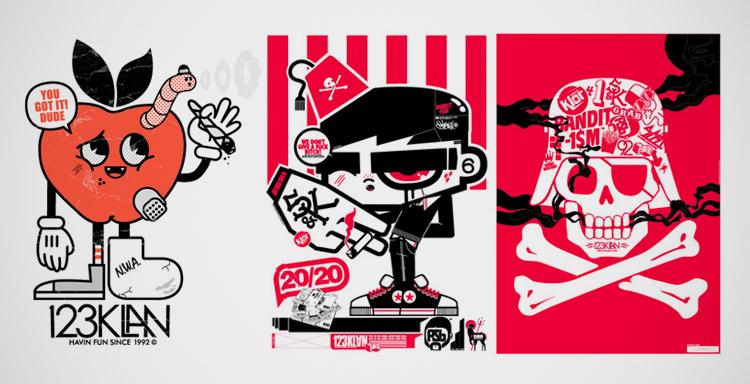 123Klan un groupe d'artistes graffeurs et graphistes