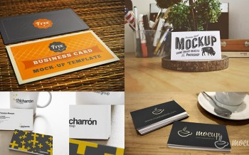Mockups cartes visite photoshop