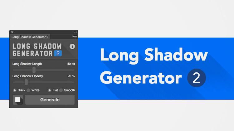 Plugin effet Long Shadow pour Photoshop