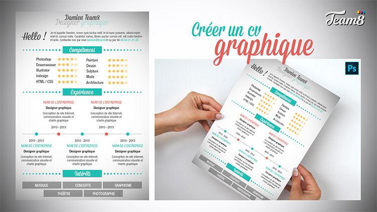 cv graphique photoshop