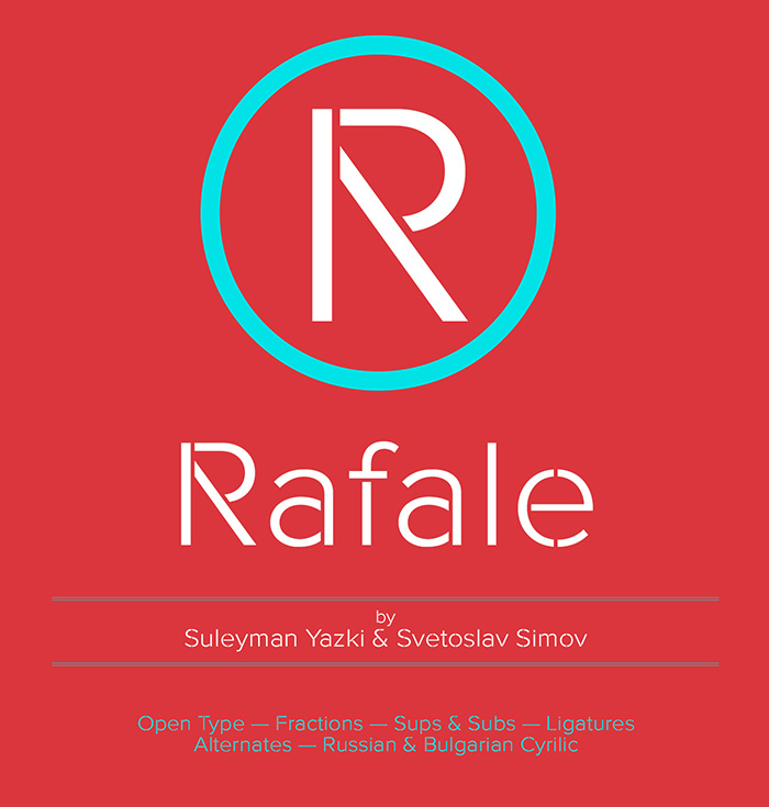 Rafale – contemporary free font