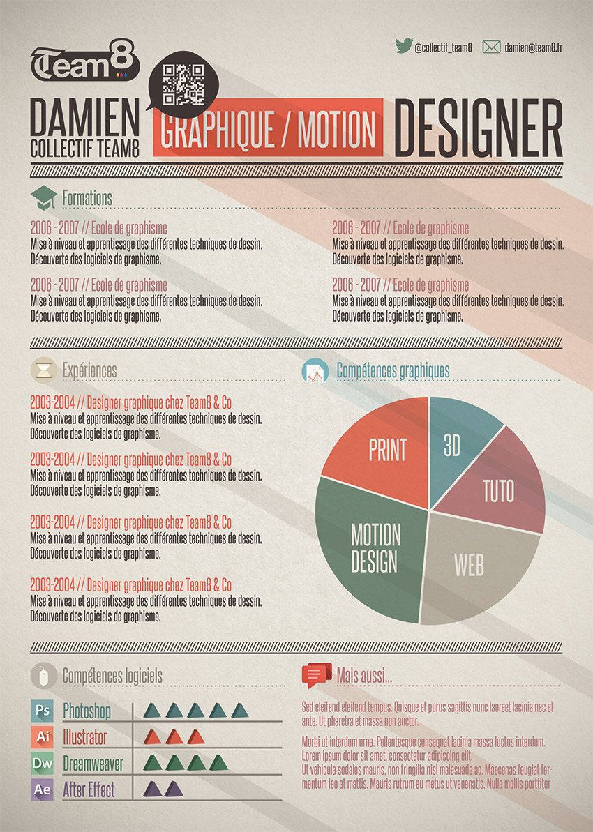 tutoriel cr u00e9er un template cv graphique avec photoshop