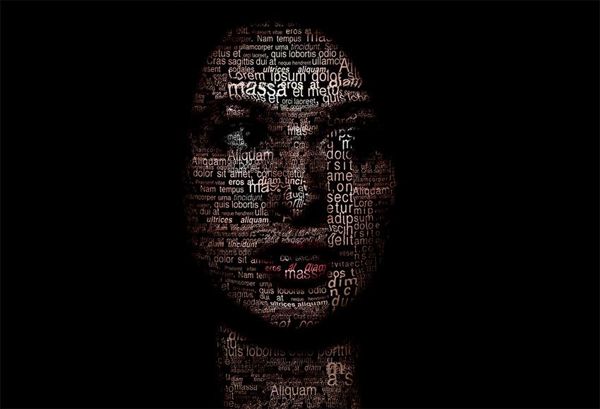 Tutoriel cr er un effet portrait typographique avec photoshop for Effet miroir sur photoshop