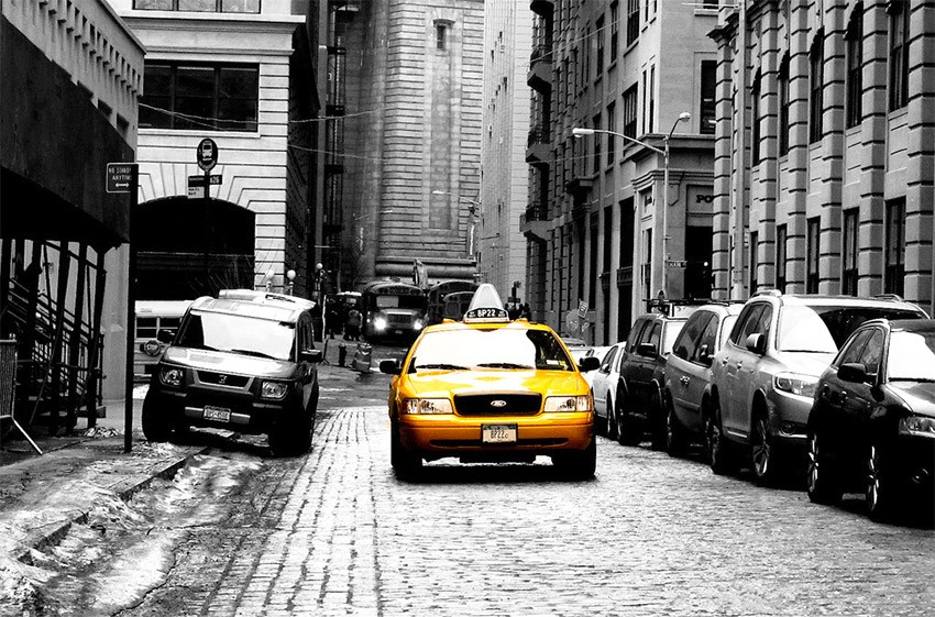 tutoriel taxis new yorkais effet couleur sur photo noir et blanc. Black Bedroom Furniture Sets. Home Design Ideas