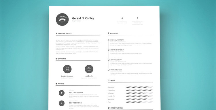 Un template gratuit de CV Illustrator