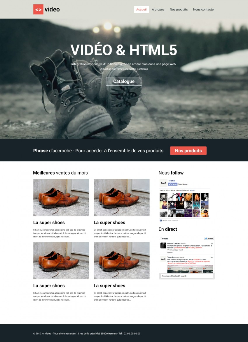 template site background video html5
