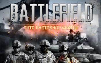 tuto affiche Battlefield avec Photoshop