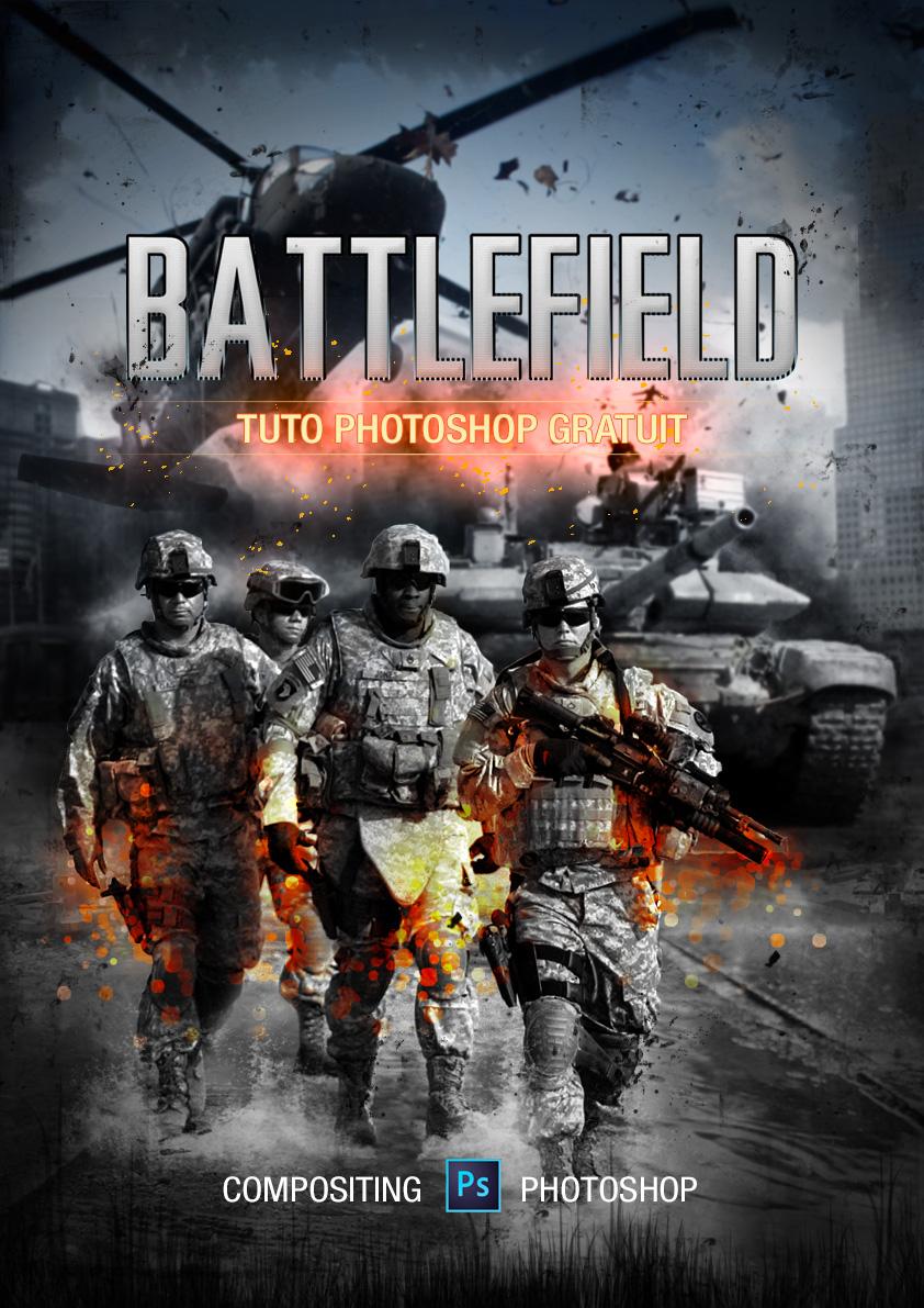 tuto affiche battlefield photoshop