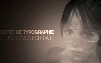 tuto effet typographique sur un portrait avec Photohop