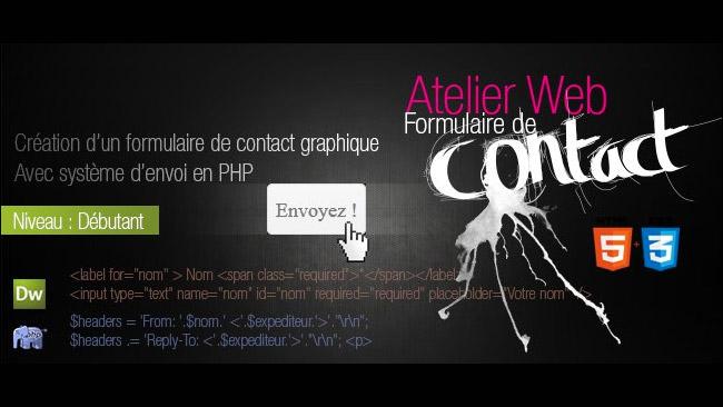 formulaire graphique de contact