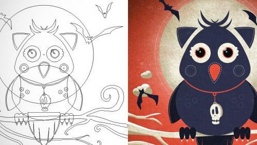 Tutoriel illustration chouette vectorielle avec Illustrator