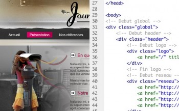 Intégration HTML CSS d'un skeuomorphisme design
