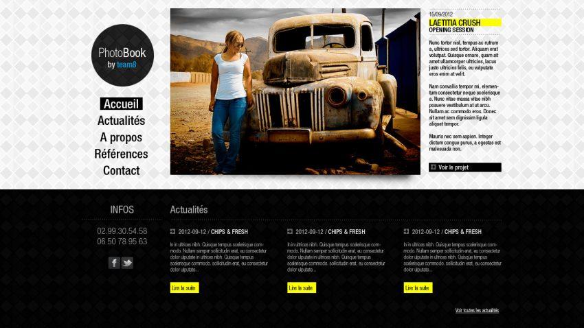 créer un web design avec Photoshop