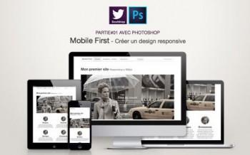 Tutoriel Web design en mobile first avec Photoshop