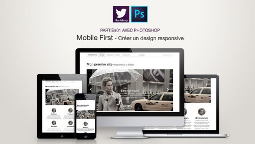 Tutoriel Web design en mobile first avec Photoshop