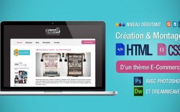 Tutoriel thème e-commerce avec Photoshop et HTML CSS