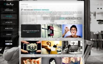 thème wordpress portfolio photoshop