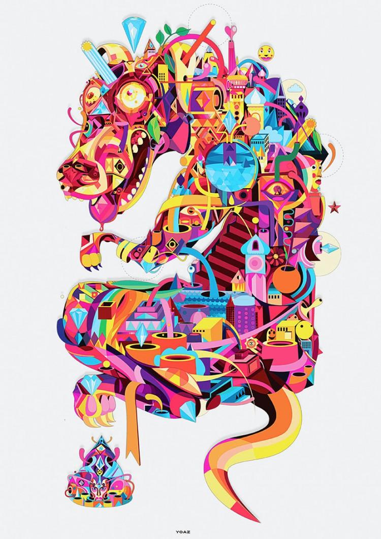 yoaz un designer graphique au graphisme tr u00e8s color u00e9