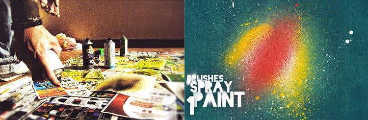 brushes spray paint photoshop