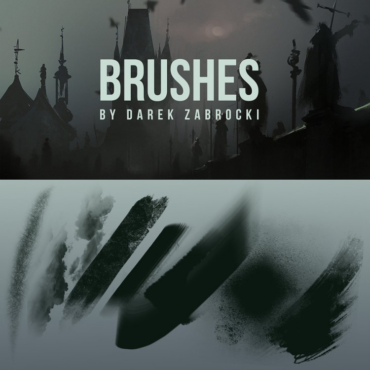 brushes speed painting