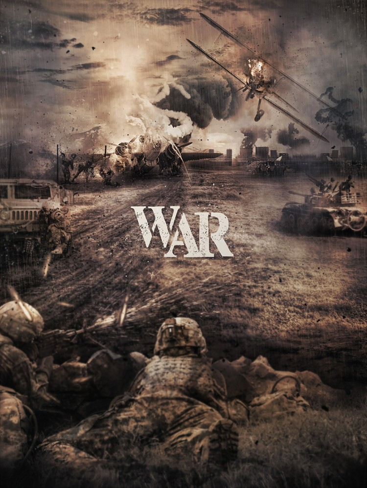 rendu affiche de guerre