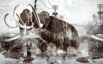 Tutoriel compositing mammouth avec des images et brushes