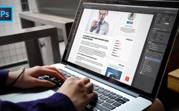 Tutoriel créer la maquette d'un Template blog avec Photoshop