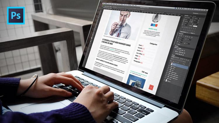 tutoriel template de cv graphique gratuit avec photoshop