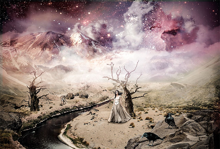 Annick Piron compositing Photoshop