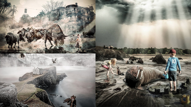 Annick Piron et ses compositions photoshop