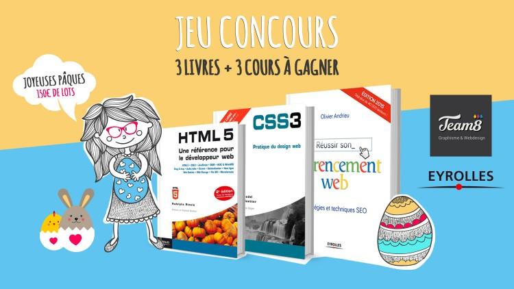 3 livres aux éditions Eyrolles et 3 cours Team8 à gagner