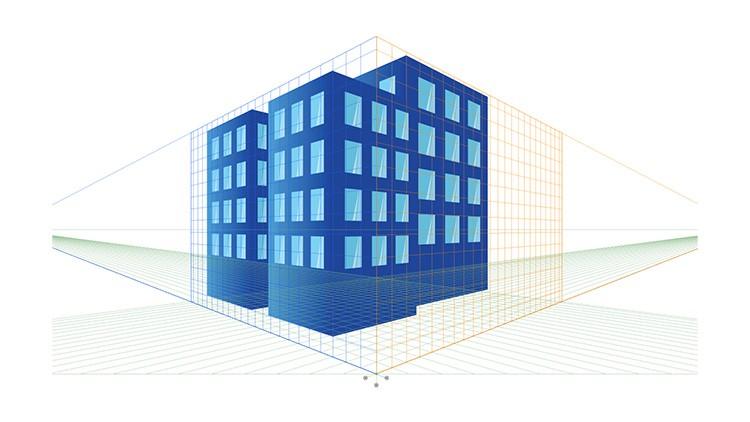 grille de perspective illustrator