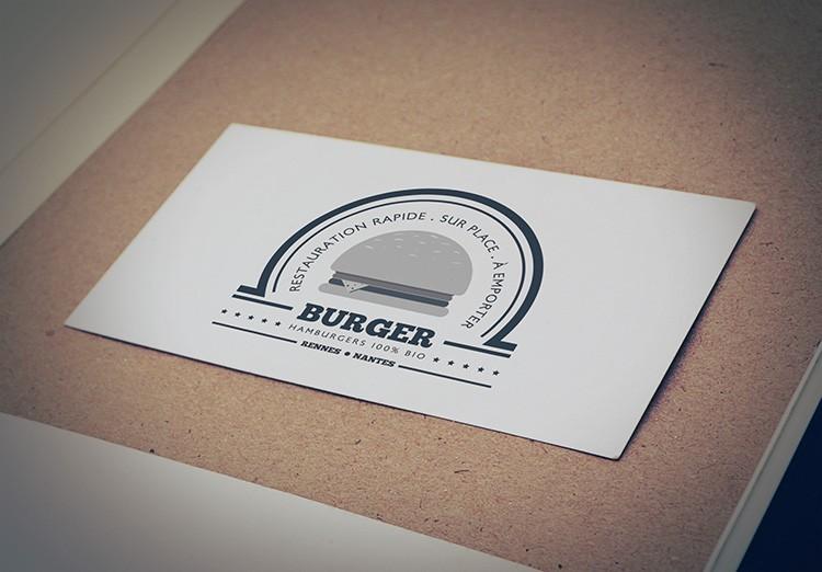 mockup logo burger noir