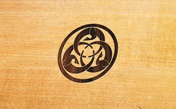 Logo marquage sur Bois