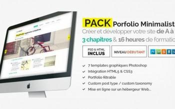 pack portfolio minimaliste