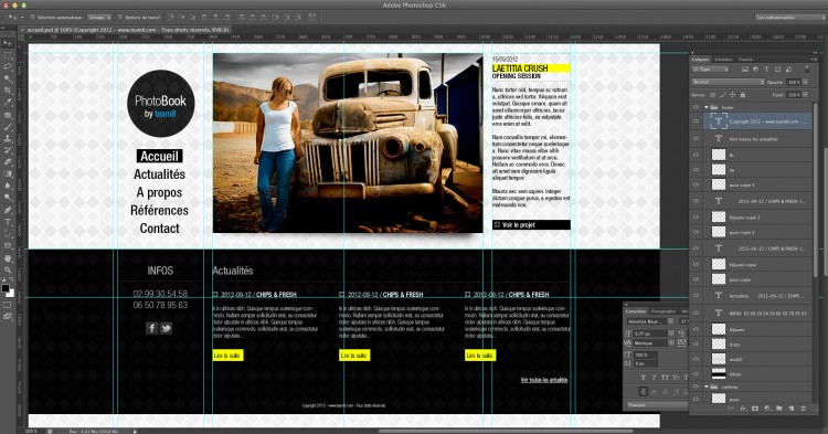 tuto web design photoshop