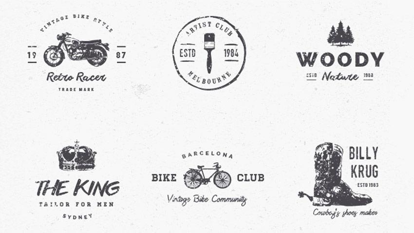 15 logos vintage gratuits