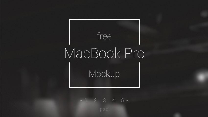 5 mockups macbook pro psd