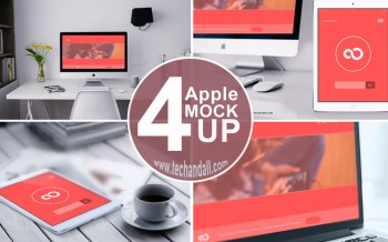 apple family mockup psd