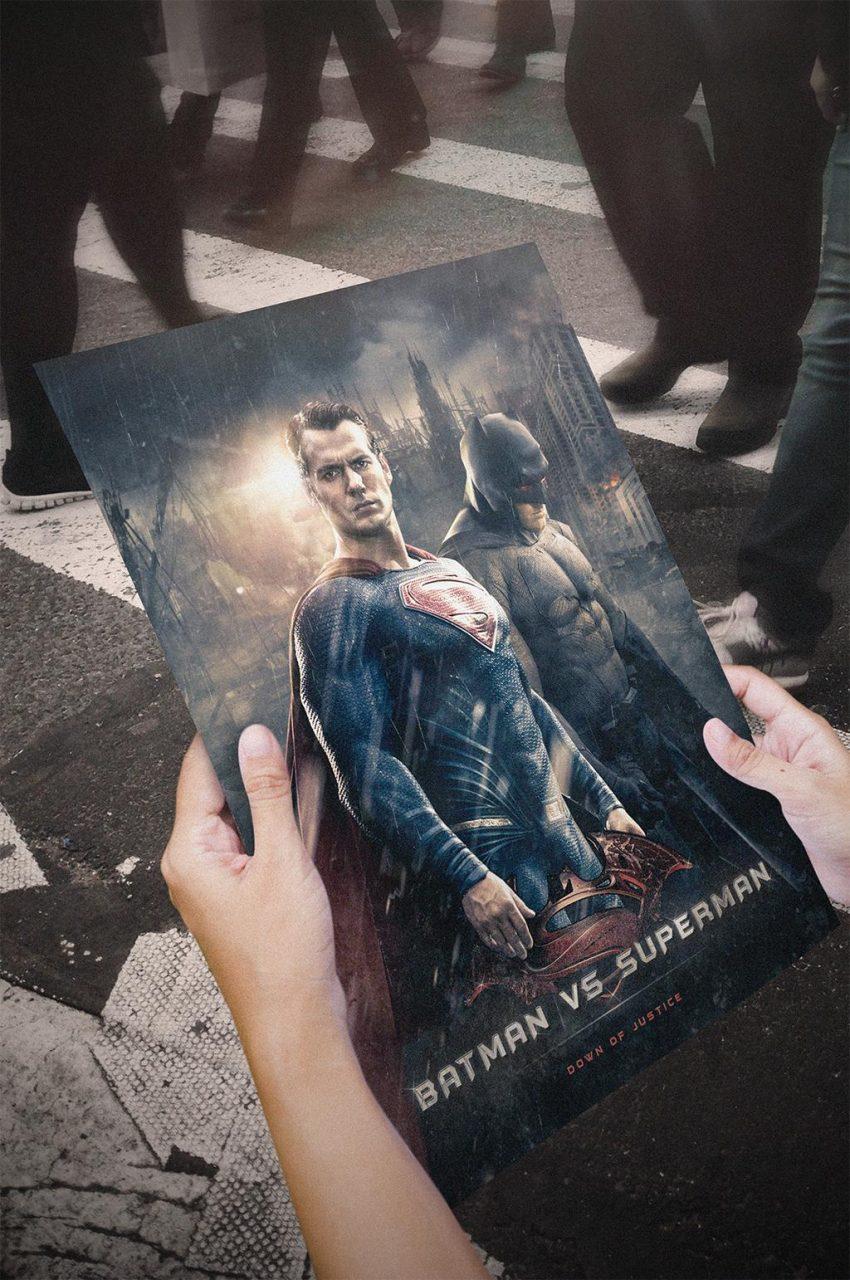 mockup batman v superman