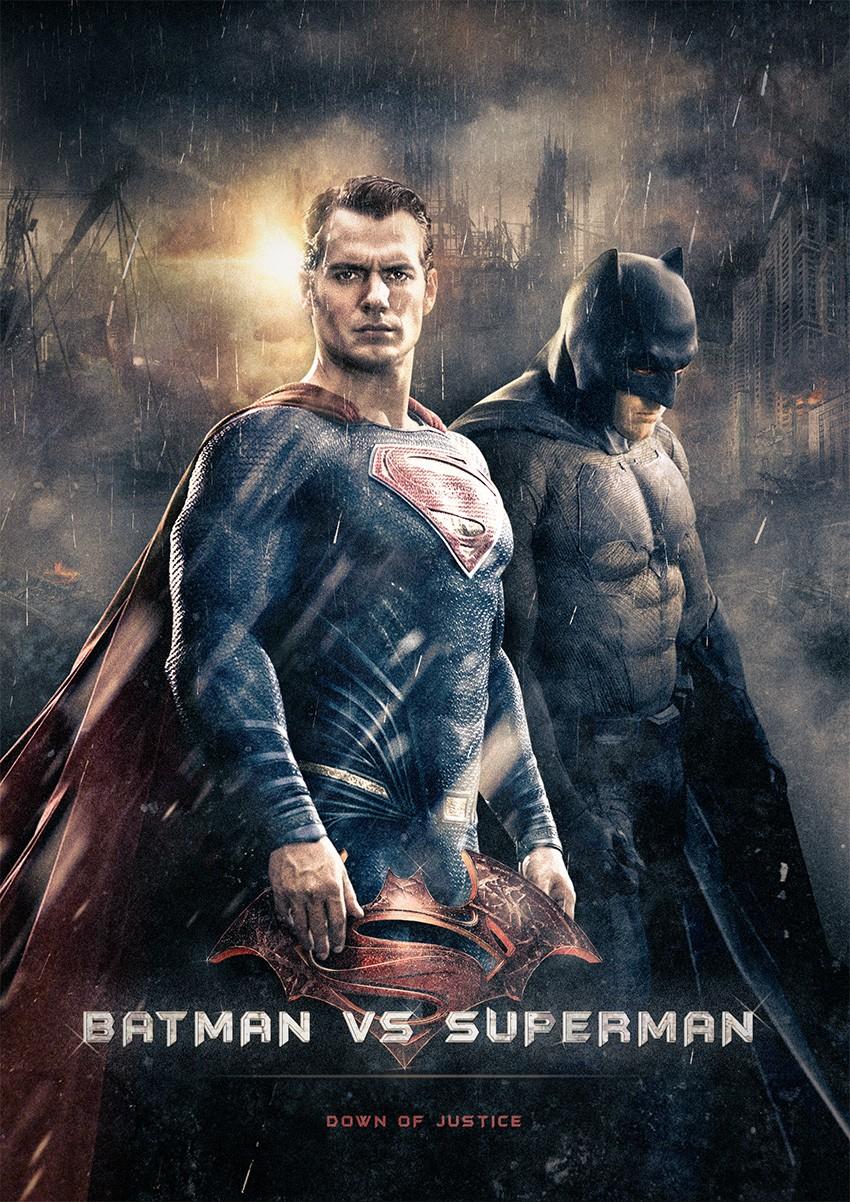 rendu tuto compositing batman v superman photoshop
