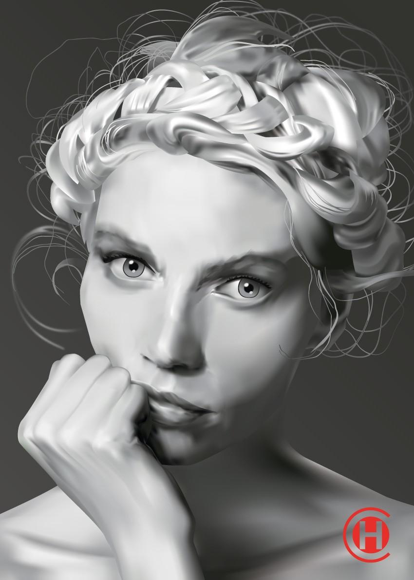 Norvégian girl avec Illustrator