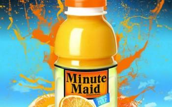 Affiche Minute Maid réalisée suite au tutoriel effet Splash