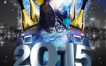 Flyer réalisé pour la nouvelle année