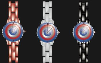 Montre Captaine America réalisée sur Illustrator