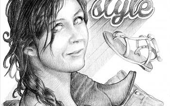 Dessin au crayon Noir & Blanc Olivia .S