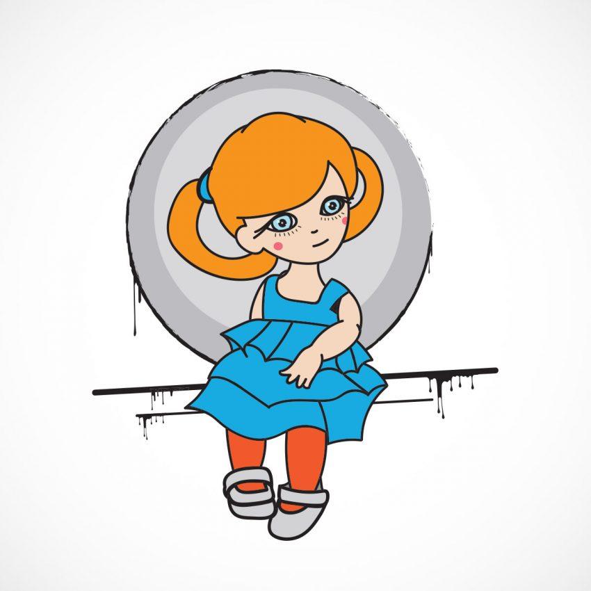 Outil pinceau - Créer une poupée vectorielle avec Illustrator