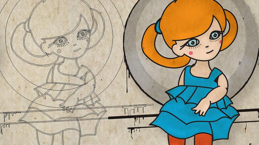 Tutoriel Illustrator - Utilisation de l'outil pinceau en dessin
