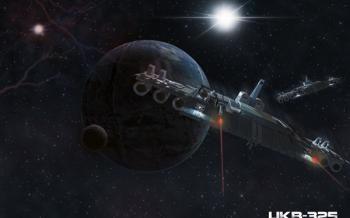 Space vaisseau en 3D puis intégration dans photoshop.