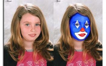 Effet clown réalisé avec Photoshop by bernard falempe